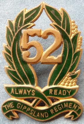 Знак на шляпу военнослужащих 52-го пехотного батальона.