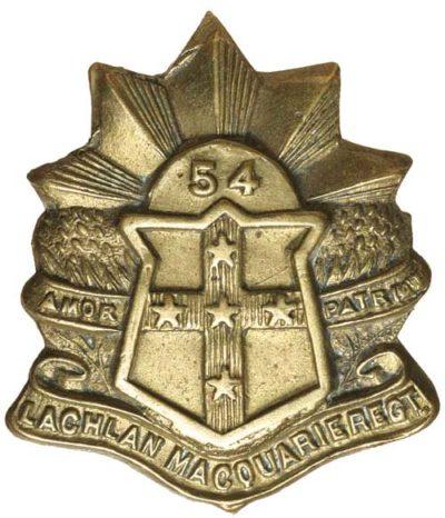 Знак на шляпу военнослужащих 54-го пехотного батальона.
