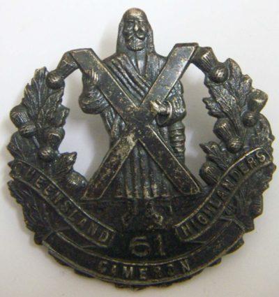 Знак на шляпу военнослужащих 61-го пехотного батальона.