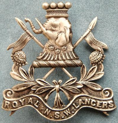Знак на шляпу военнослужащих 1-го полка легкой кавалерии.