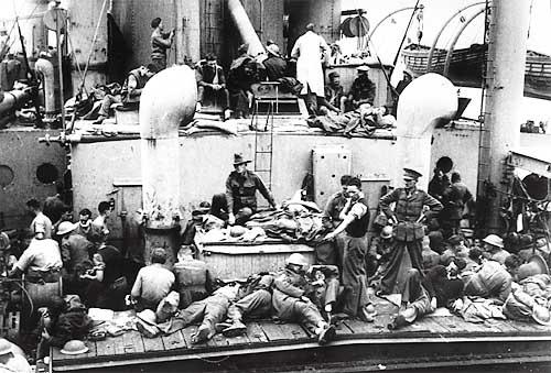 Британские войска уходят с Крита. Июнь 1941 г.