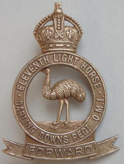 Знак на шляпу военнослужащих 11-го полка легкой кавалерии.