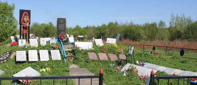 с. Путилово Кировского р-на. Братские могилы, в которых захоронено 2500 советских воинов.