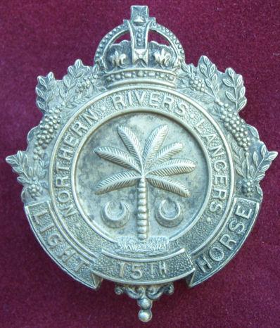 Знак на шляпу военнослужащих 15-го полка легкой кавалерии.