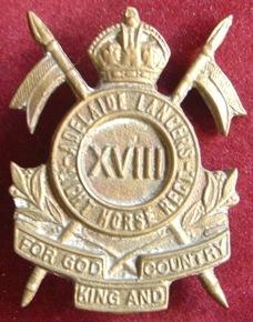 Знак на шляпу военнослужащих 18-го полка легкой кавалерии.