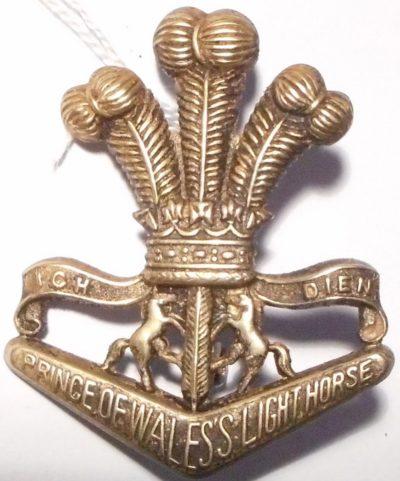 Знак на шляпу военнослужащих 4/19-го полка легкой кавалерии.