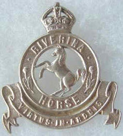 Знак на шляпу военнослужащих 21-го полка легкой кавалерии.