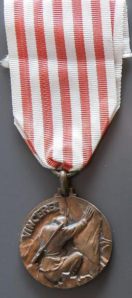Аверс и реверс медали «За битву на Западном альпийском фронте».