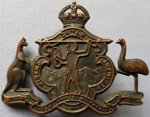 Знак на шляпу военнослужащих 24-го полка легкой кавалерии.