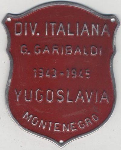 Нарукавный щит партизанской дивизии Гарибальди.