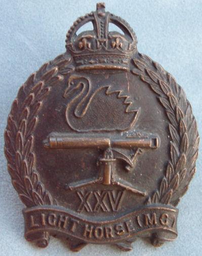 Знак на шляпу военнослужащих 25-го полка легкой кавалерии.