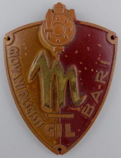 Нарукавные щиты отделений молодежной фашисткой организации GIL.