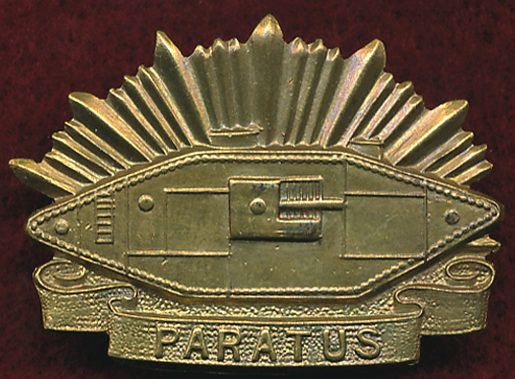 Знак на шляпу военнослужащих Австралийского танкового корпуса.
