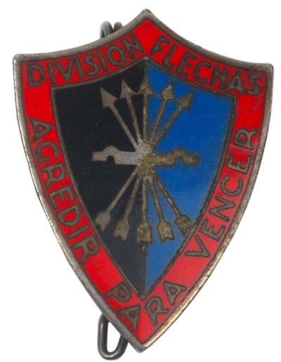Знаки штурмовой бригады «Frecce Nere» (Чорные стрелы), воевавшей в Испании.