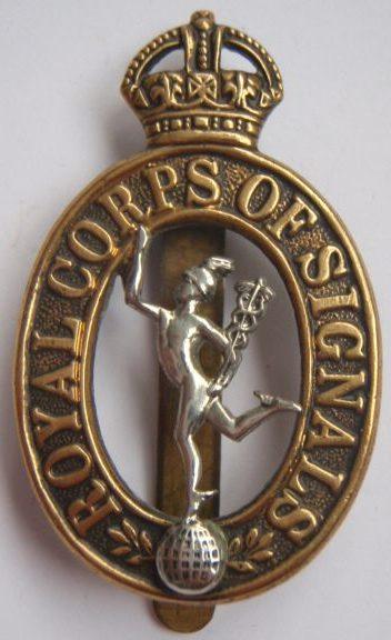 Знак на шляпу военнослужащих Королевского корпуса связи RCOS.