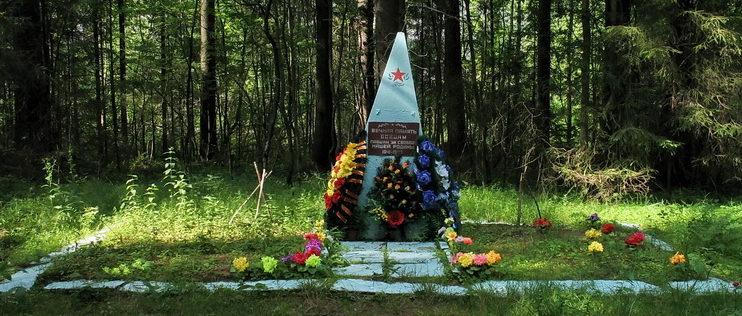 п. Рощино Выборгского р-на. Памятник на братской могиле советских воинов.