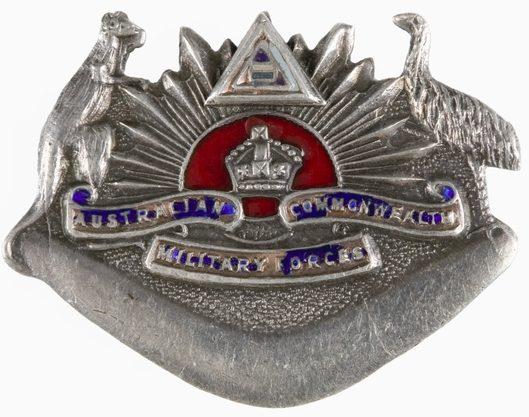 Знак на шляпу военнослужащих 1-го Австралийского корпуса связи.