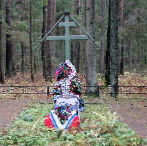 п. Санаторий «Сосновый Бор» Выборгского р-на. Братское кладбище, где похоронено 24 советских воина.