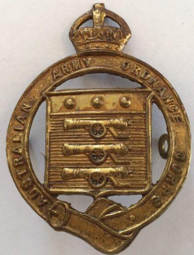 Знак на шляпу военнослужащих Австралийского армейского корпуса боеприпасов.