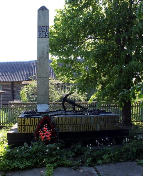д. Кириково Волховского р-на. Памятник погибшим землякам.