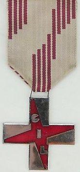 Аверс Бордового креста заслуг GIL.