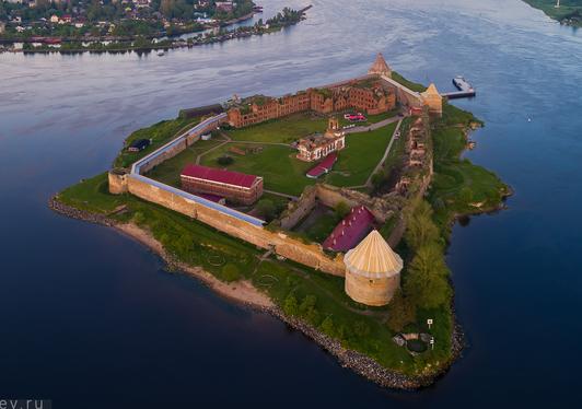 Крепость «Орешек» с высоты.