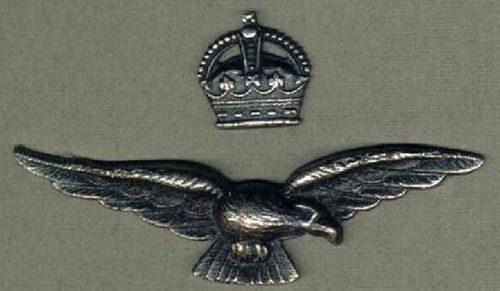 Серебряный знак офицера RAAF.