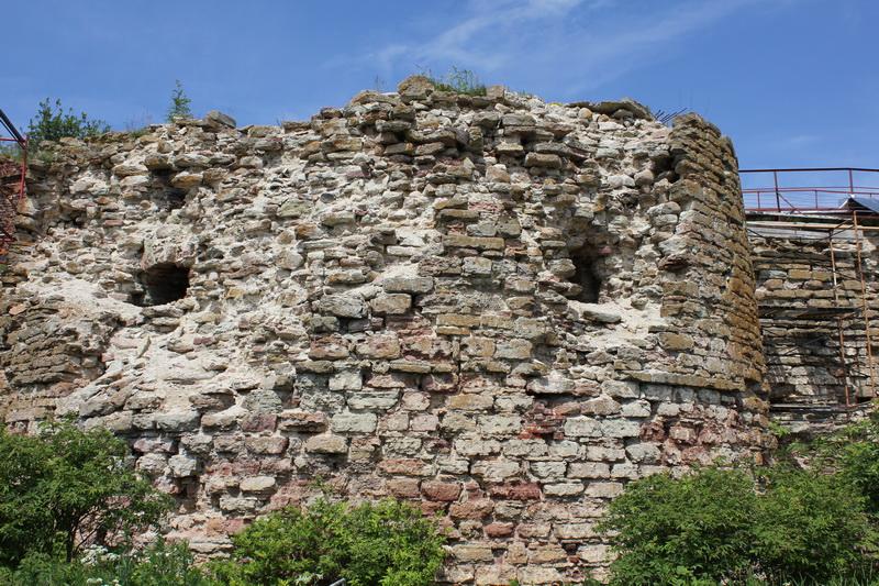 Руины крепости.