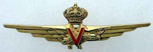 Аверс и реверс знака военного скоростного пилота. Королевство.
