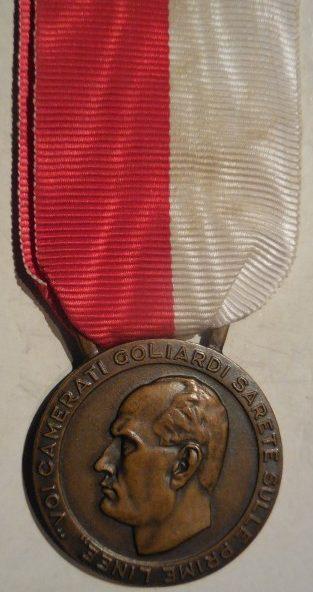 Аверс и реверс медали «За товарищей» GUF.