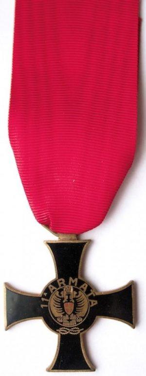 Аверс и реверс памятного креста 11-й армии.