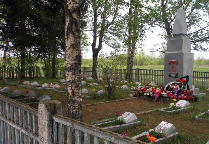 г. Сясьстрой Волховского р-на. Братское кладбище неизвестных советских воинов погибших в годы войны.