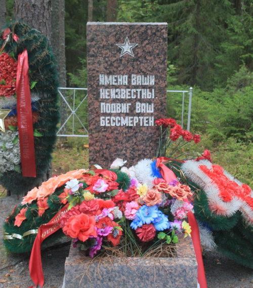 д. Заостровье Лодейнопольского р-на. Братская могила советских воинов.