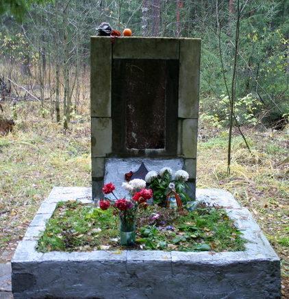 д. Островки Всеволожского р-на. Памятник на братской могиле советских воинов.