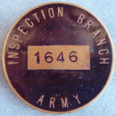 Аверс и реверс личного знака военнослужащего отдел военной разведки.
