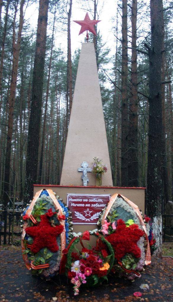 п. Рахья Всеволожского р-на. Памятник на братской могиле.