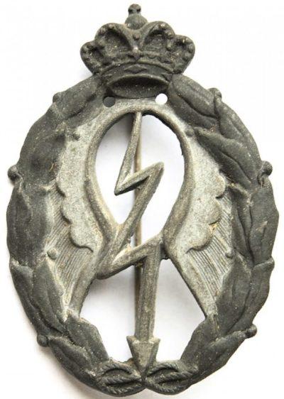 Аверс и реверс знака штурмовик в серебре. Королевство.
