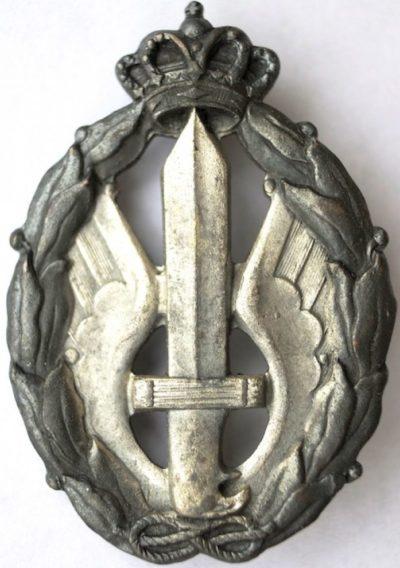 Аверс и реверс знака пилота десантных судов в серебре. Королевство.