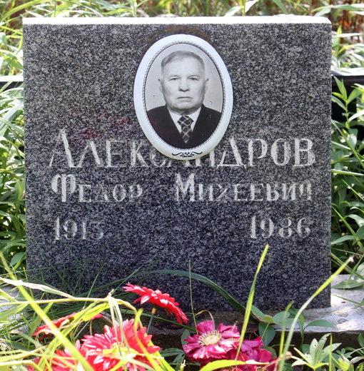 Памятник на могиле Героя Советского Союза Александрова Ф. М.