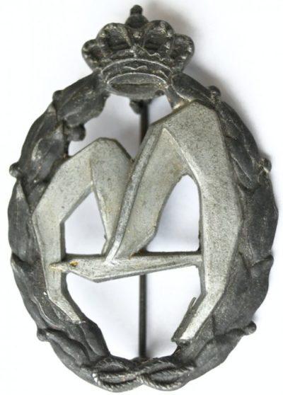 Аверс и реверс знака транспортной авиации в серебре. Королевство.