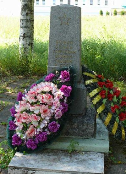 д. Старая Слобода Лодейнопольского р-на. Памятник, установленный на братской могиле, в которой захоронено 188 советских воинов, в т.ч. 1 неизвестный.