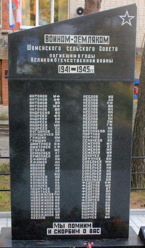 п. Янега Лодейнопольского р-на. Памятник погибшим землякам.