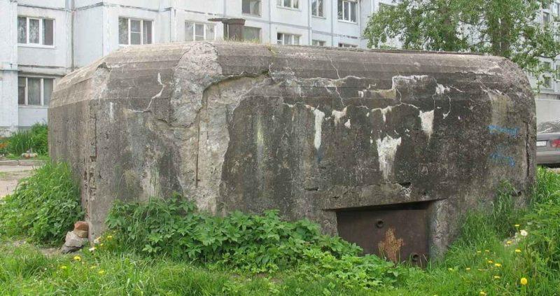 г. Гатчина. ДОТ по улице Беляева, 11б, входил в Красногвардейский укрепрайон.