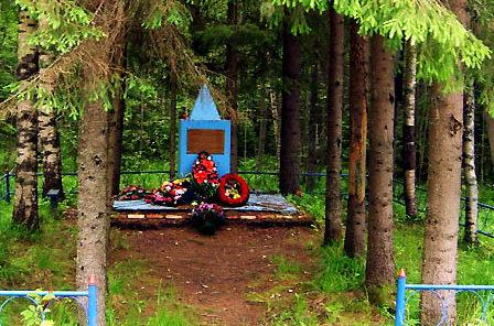 п. Стеклянный Всеволожского р-на. Братская могила советских воинов.