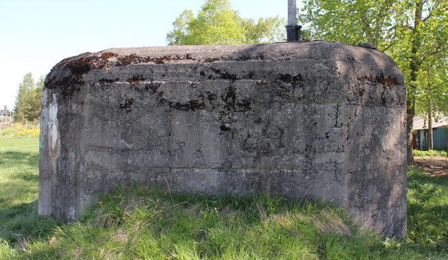 г. Гатчина. Артиллерийский ДОТ под 45-мм казематную артиллерийско-пулеметную установку ДОТ-4 был построен в 1941 году и входил в Красногвардейский укрепрайон.
