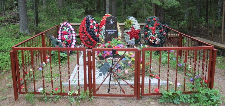 п. Дивенский Гатчинского р-на, Памятник на воинском захоронении.
