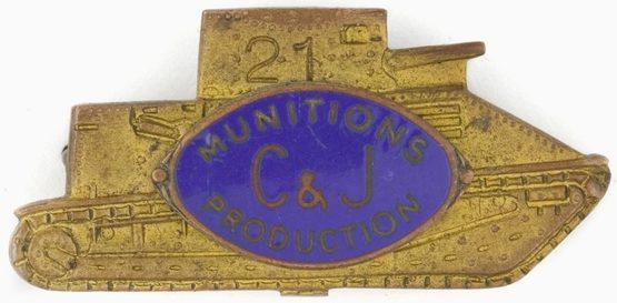 Знак-пропуск для сиднейской фирмы 2C & J Munitions», выпускающей танки.