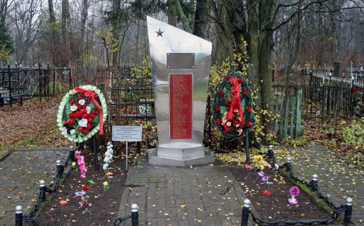 п. Щеглово Всеволожского р-на. Братская могила ленинградцев, погибших при эвакуации.