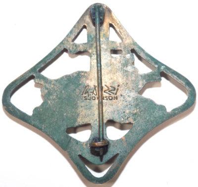 Аверс и реверс бронзового знака «За поход». Республика.