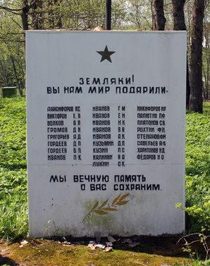 д. Недоблицы Кингисеппского р-на. Памятник погибшим землякам.